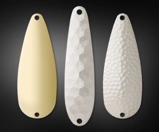 Spoons in Smooth, Hex and Hammered Patterns
