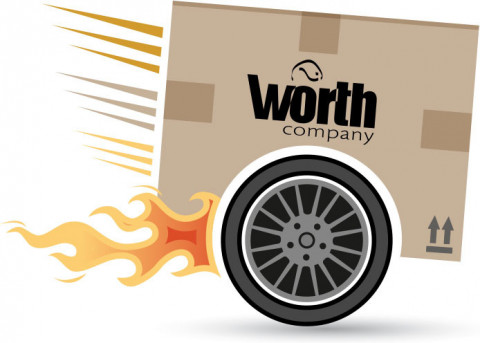 Worth delivers over 85% of our products in less than two days.