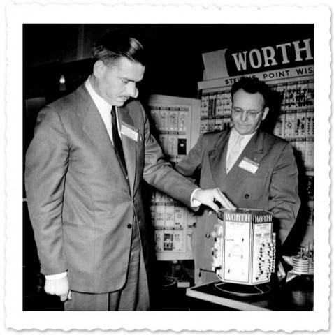 Image of Joseph Worth at a 1950's Trade Show
